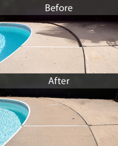 Pool Deck Repair Before and After