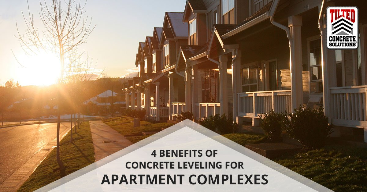 Concrete Leveling for apartment complexes