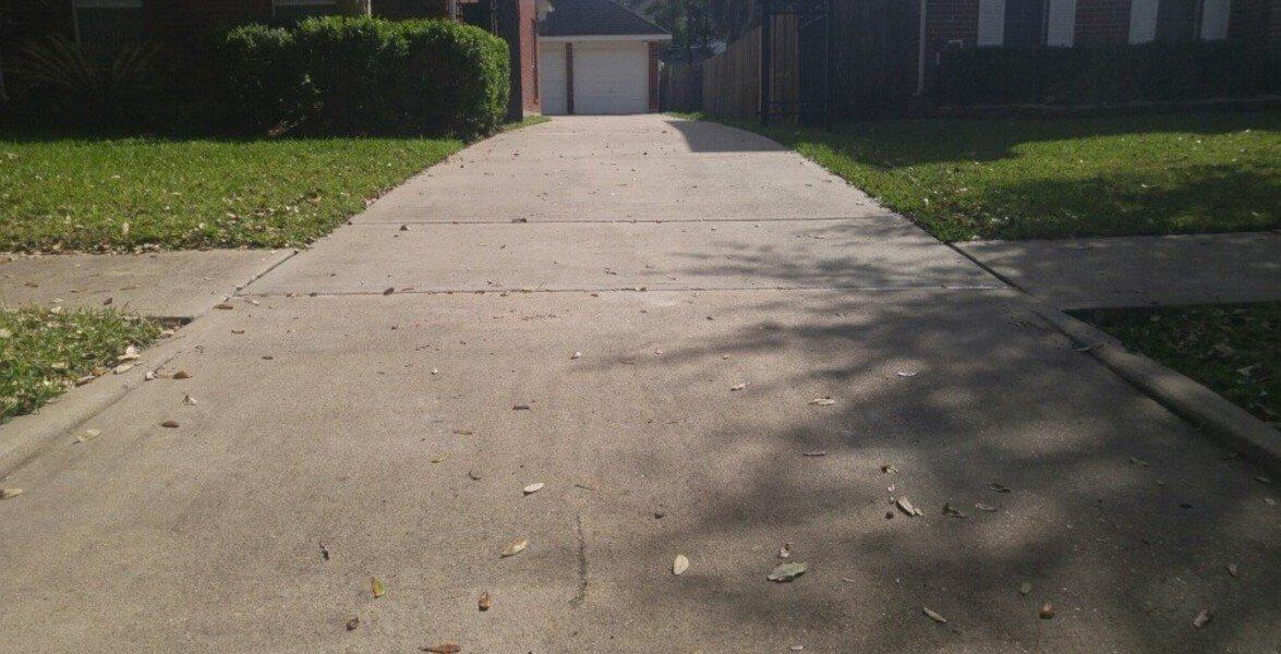Leveled Driveway From Polyjacking